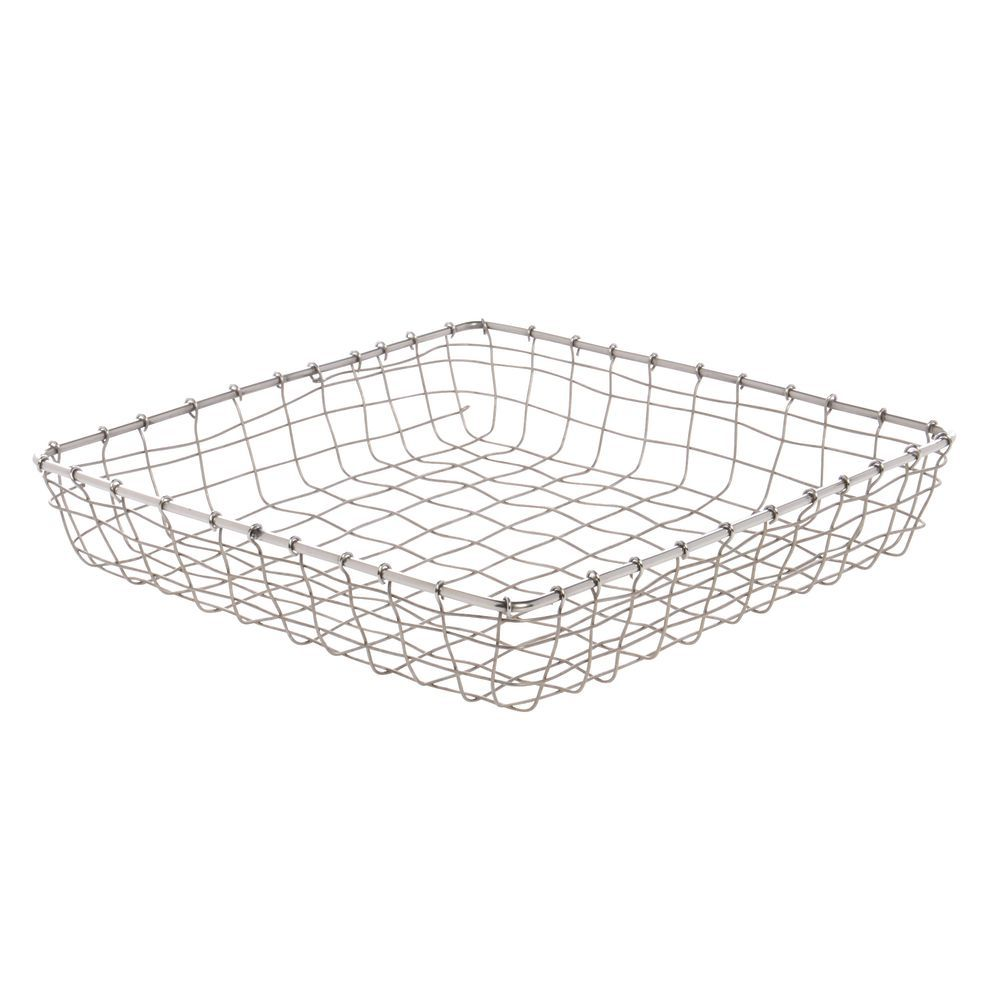 Expressly HUBERT Square Stainless Steel Wire Mesh Baskets - 12L x ...