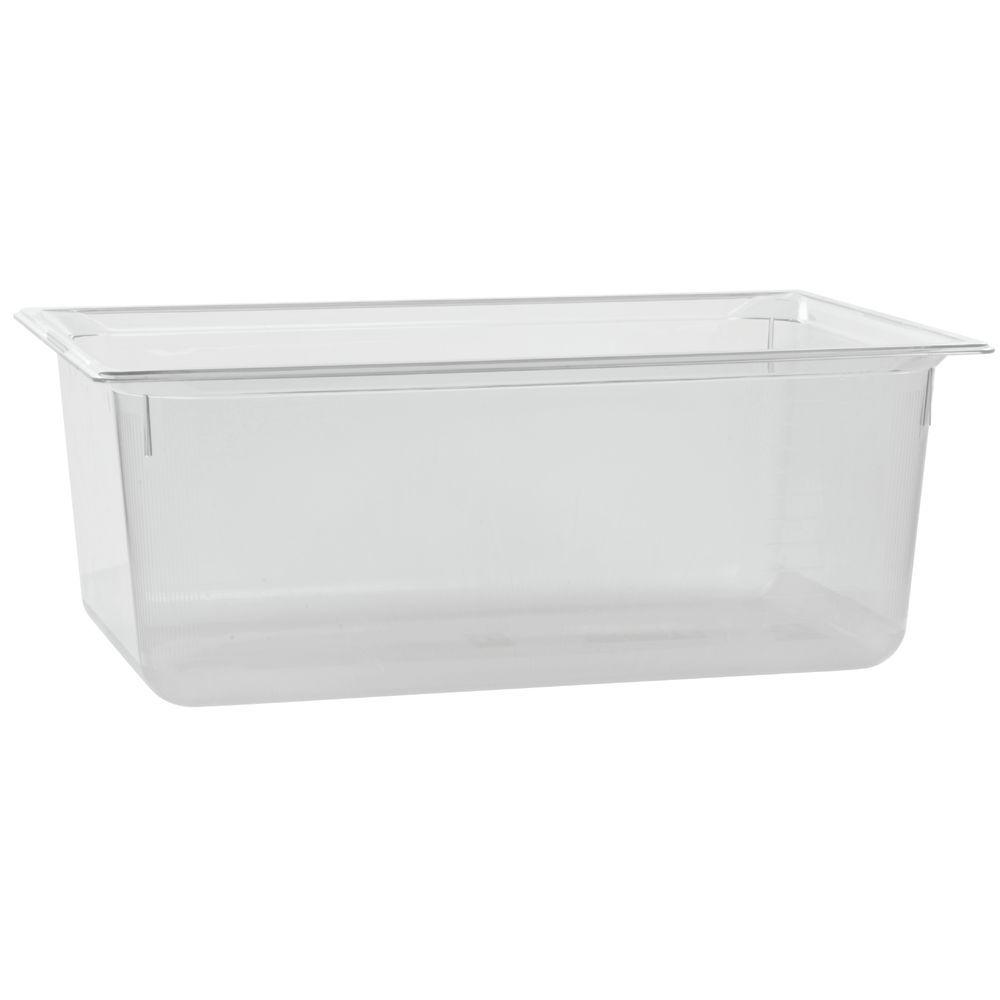 "Vollrath Super Pan Clear Plastic Catering Pan Low Temp Full Size 8""D"