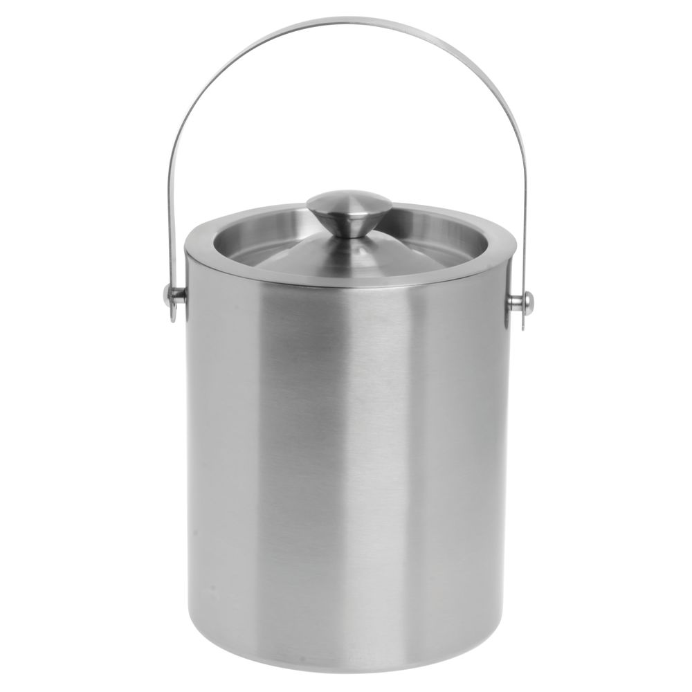 HLR Ice Bucket Stainless Steel Ice Bucket,Insulated Stainless Steel Double Walled Ice Bucket With Lid Tongs Filter,thick Wine Bucket Portable Wine Chiller For Bar Party Size : 1l