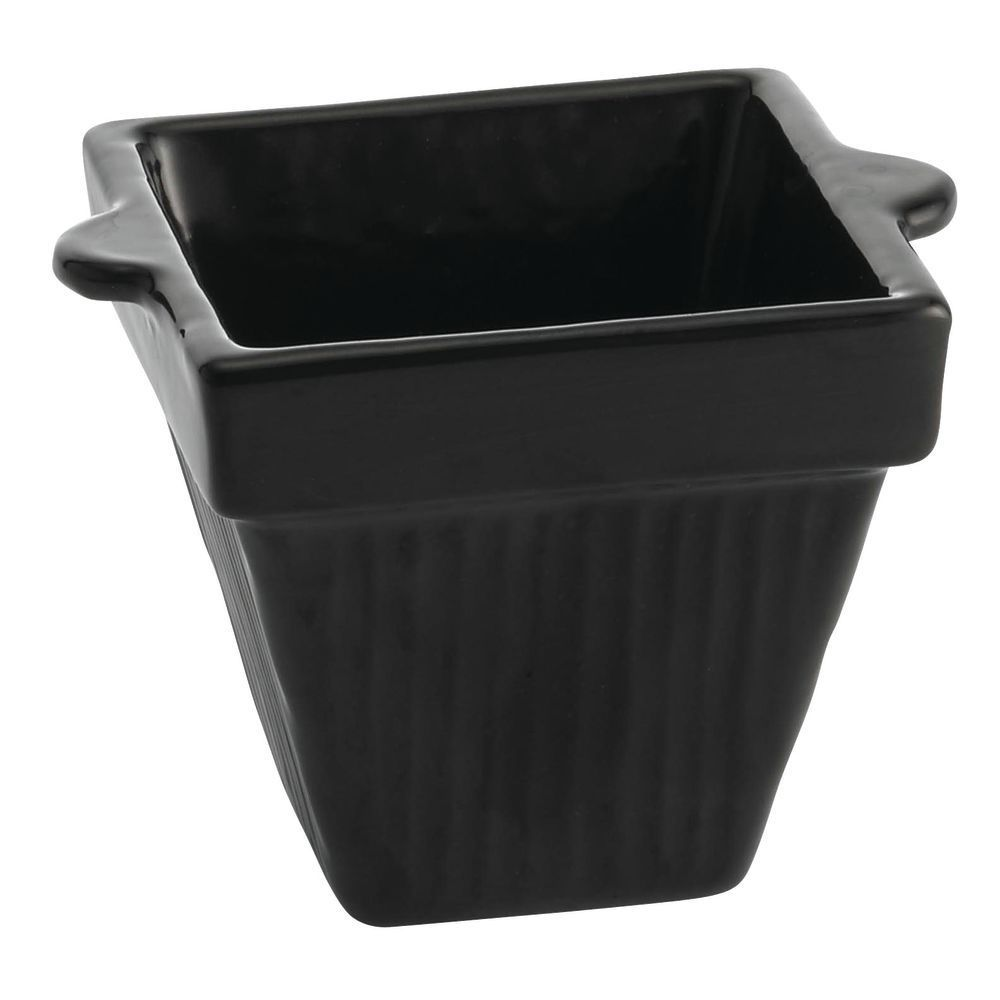 Tablecraft® Square Coated Metal Bowl Black 18 Oz