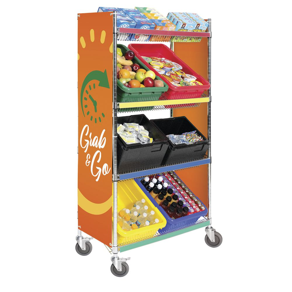 HUBERT�???????�??????�?????�????�???�??�?�® 36inch Grab & Go Classroom Meal Delivery Cart