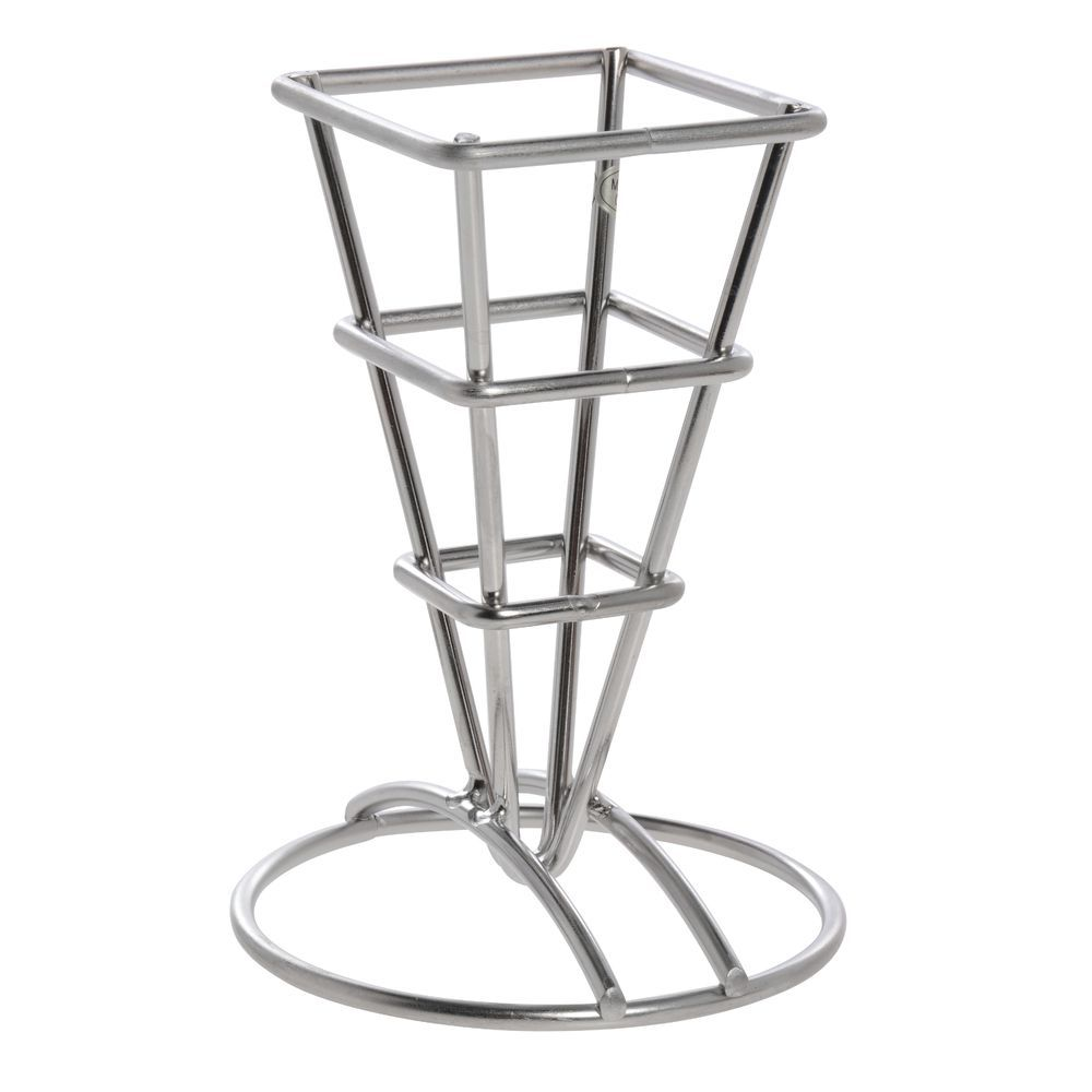 HOLDER, FRY CUP, SQUARE, S/S