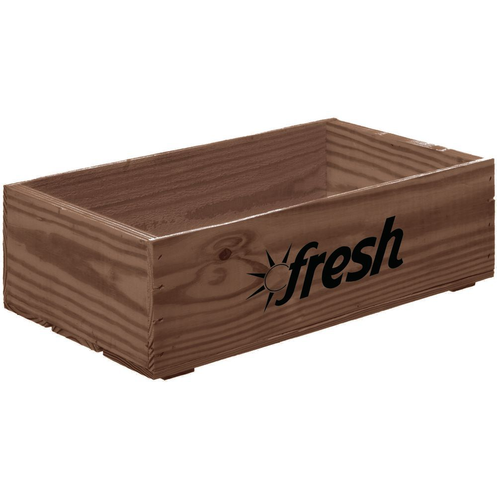 "Wooden Crate Fresh Logo Early American Large 19 3/4""L x 11 1/4""W x 5 7/8""H"