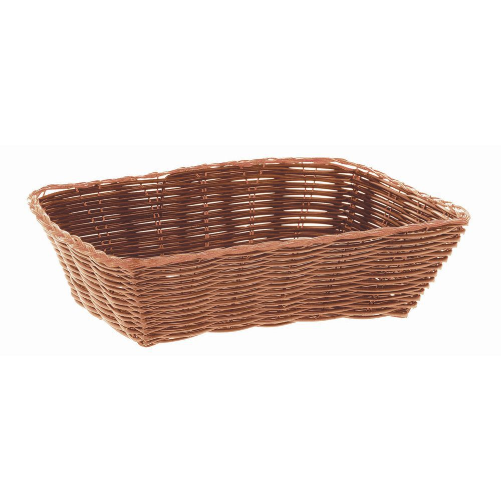 "BASKET, BREAD, RECT, 9""L, BROWN"