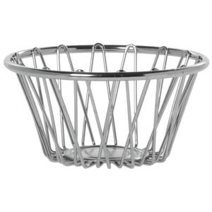 "BASKET, CHROME, RND.6""DIA.X3""DEEP"