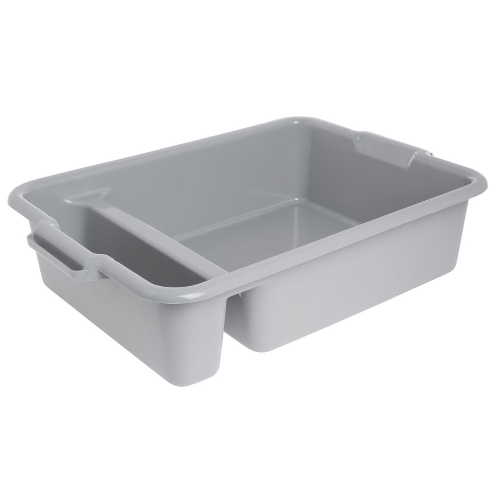 """Vollrath Reinforced Bus Bin 2 Compartment 6""""H Gray"""