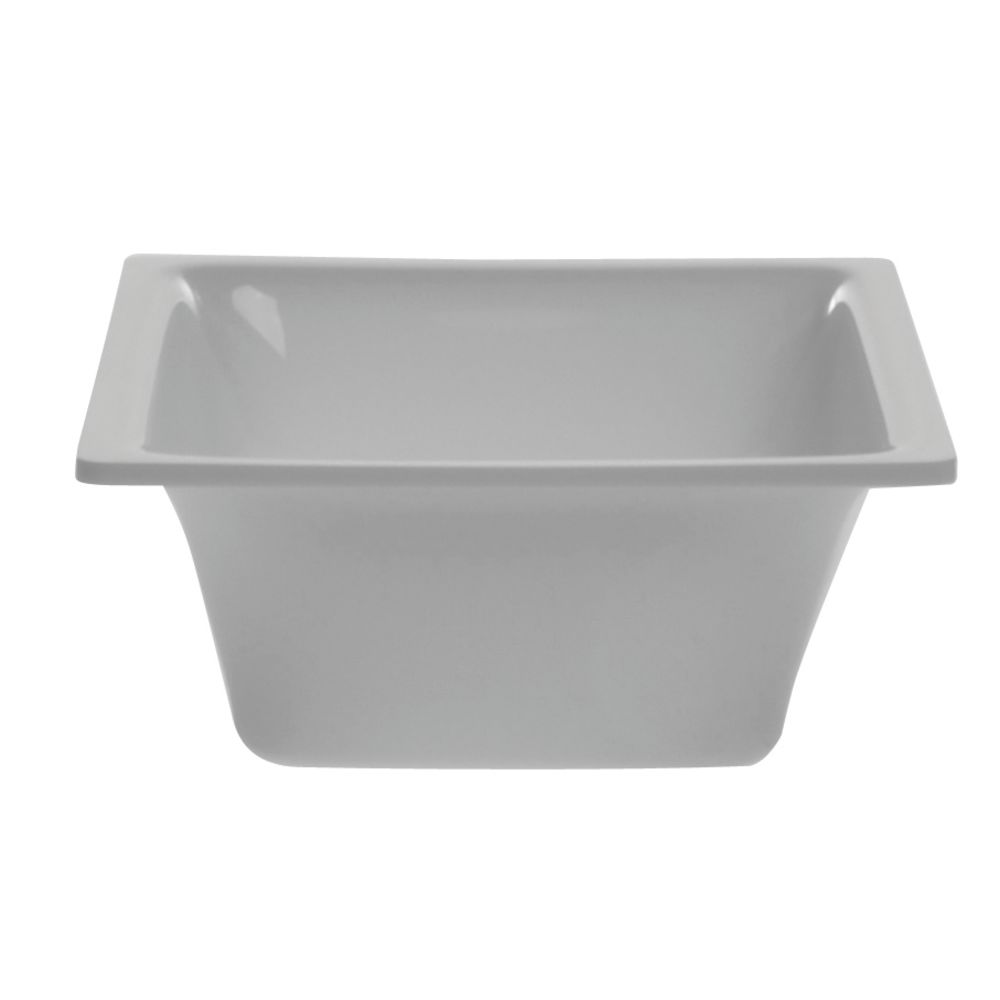 """Delfin White Square Acrylic Bowl 5 1/2""""L  x 2 1/2""""H"""