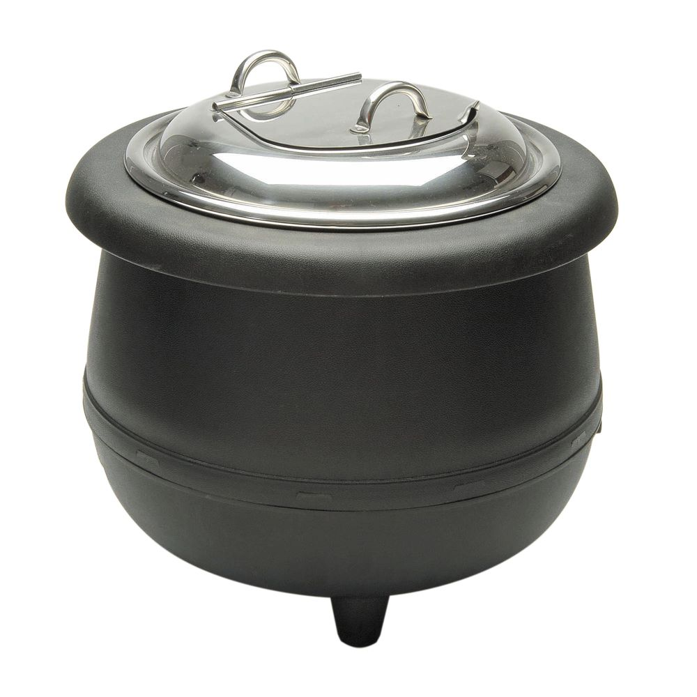 Electric Soup Warmer ~ Qt black electric soup kettle warmer quot dia