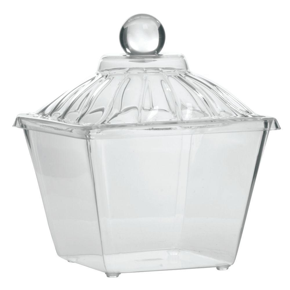 JAR, ACRY.1/2GAL.AMPHORA W/SOLID LID