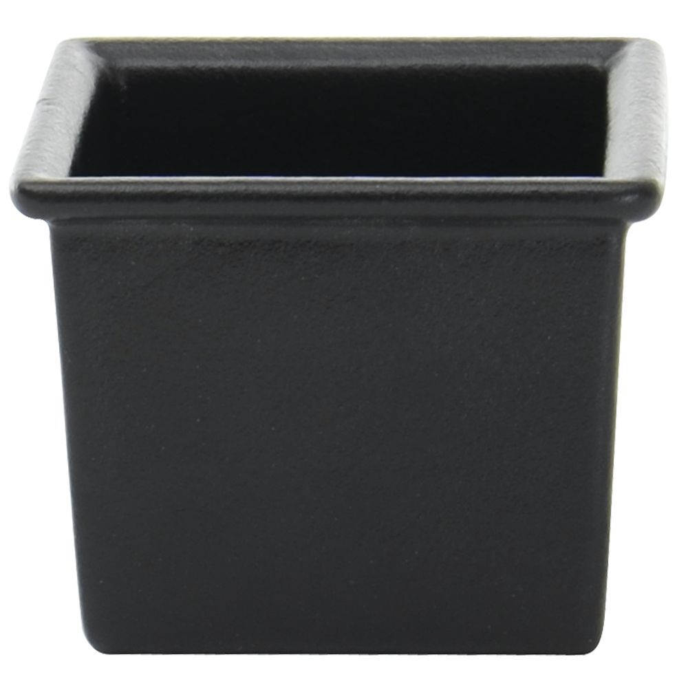 """This square ware gives style to the ordinary buffet.  The 6"""" x 6"""" x 4 3/4"""" black garnish bowl updates the conventional buffet.  This square ware has a resin coating to keep it looking flawless.  Guaranteed for 3 years to not lift or peel making it perfect for commercial use.  Visit Hubert.com for complementing sizes and shapes to create your masterpiece."""