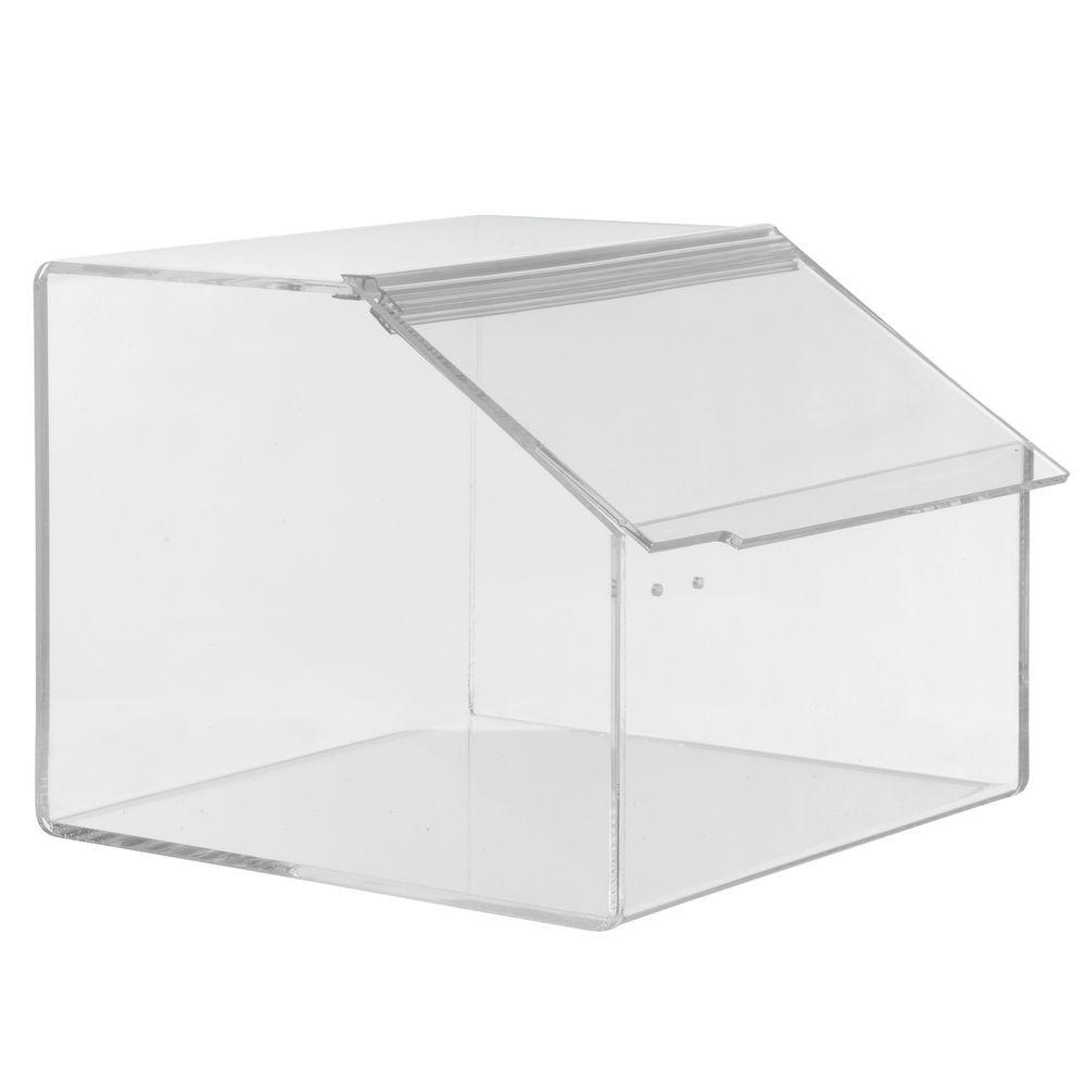 Expressly HUBERT Rectangular Clear Acrylic Bulk Food Storage
