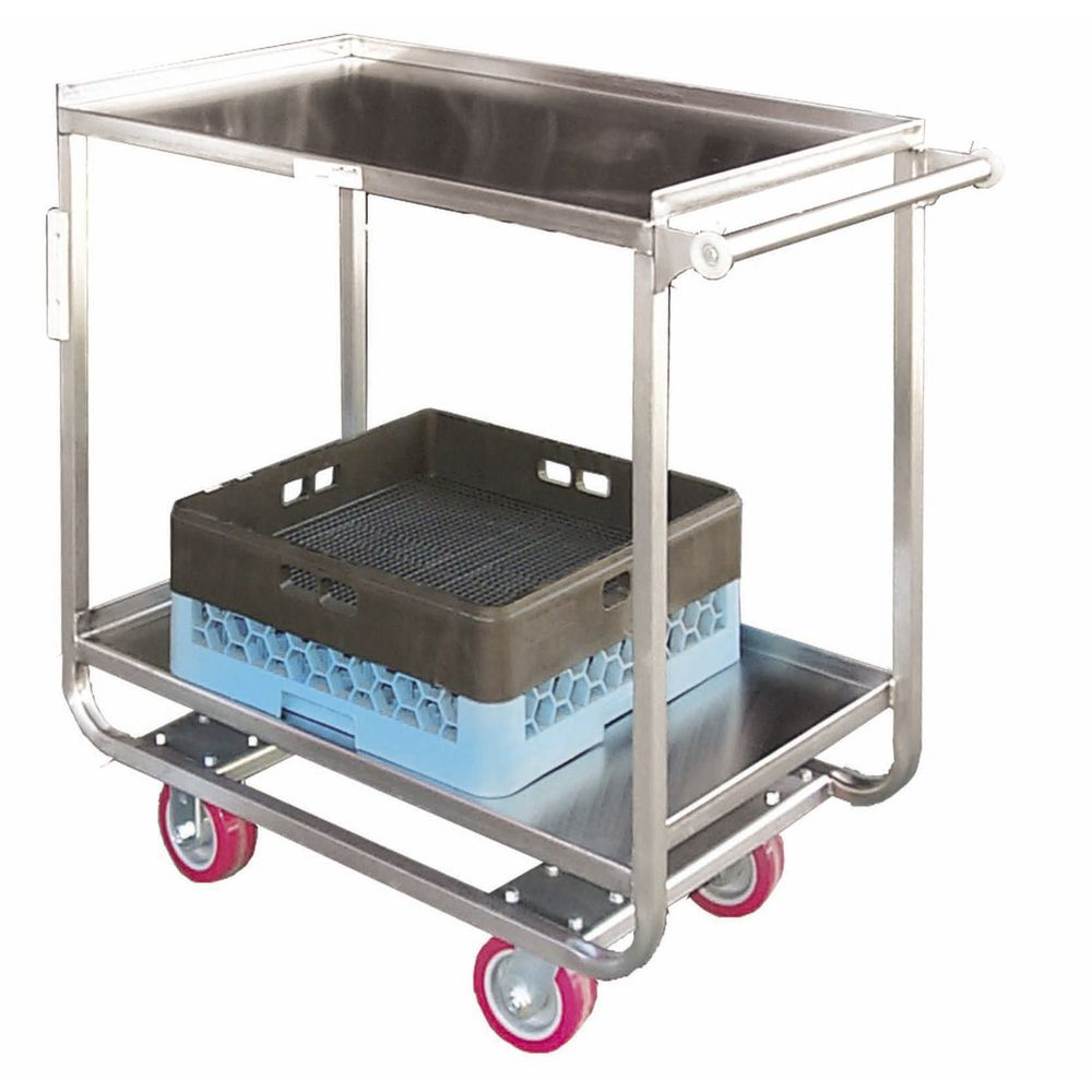"HUBERT® Stainless Steel Utility Cart 2 Shelf 38""L x 20""W x 38""H"