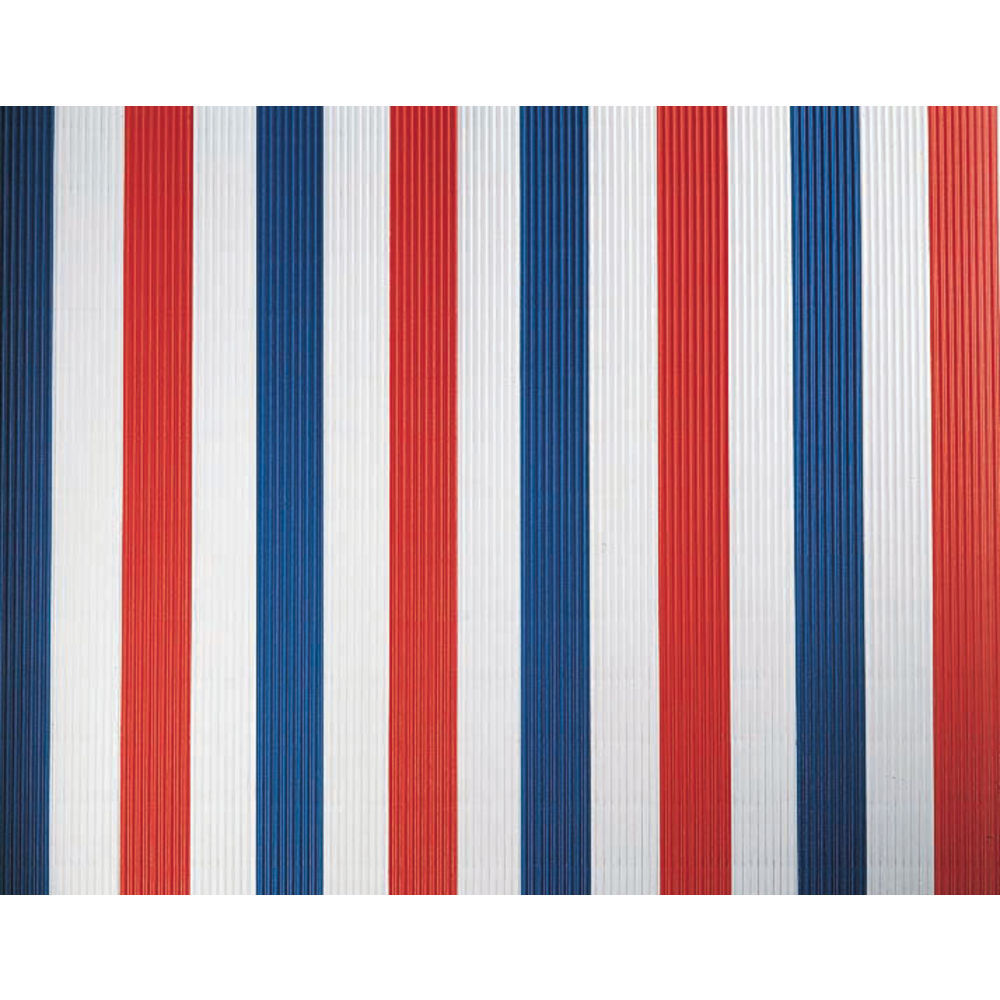 "Corobuff Valance Red/White/Blue Stripe 45'L x 8 1/2""W Corrugated Paper"