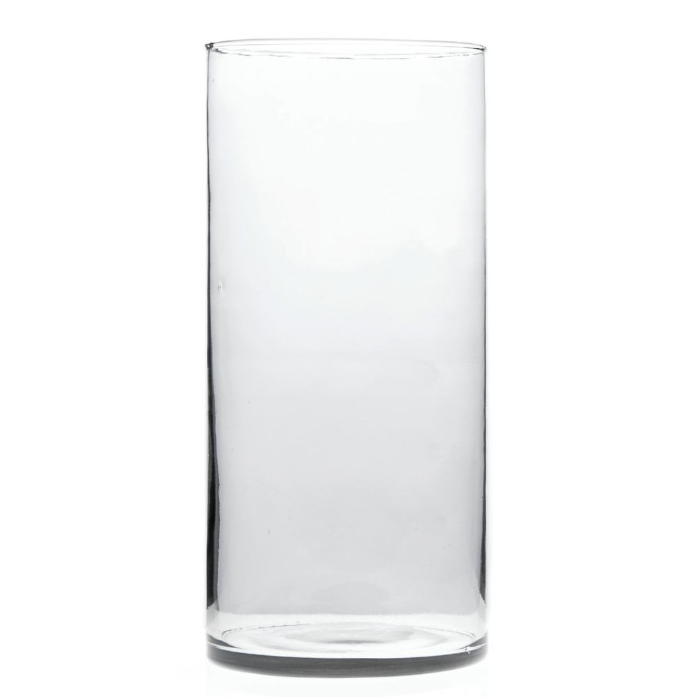vase x round clear glass product cylinder
