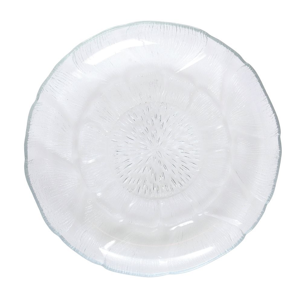 "Cardinal Fleur Glass Bread and Butter Plate 5 1/2"" Dia"