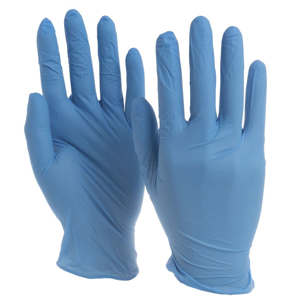 Blue Nitrile Powder-Free Disposable Gloves