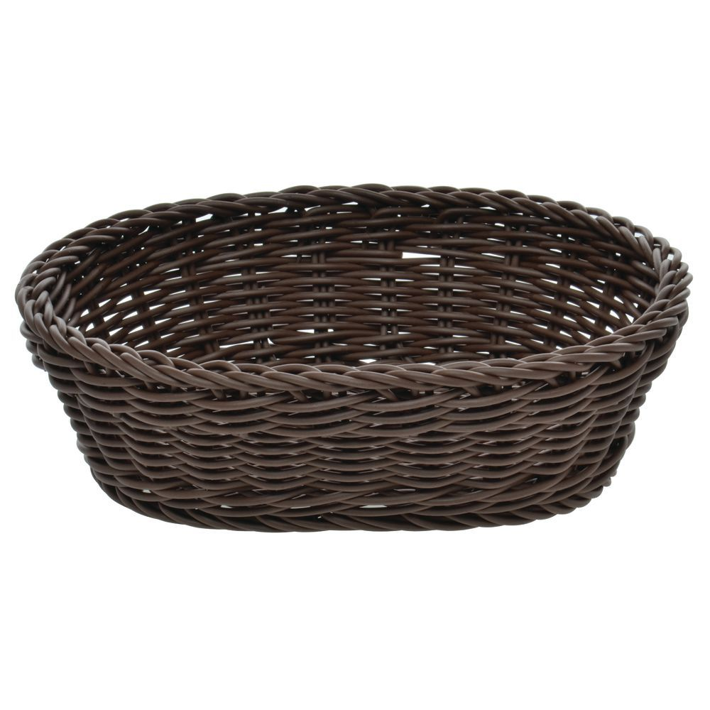"Woven Bread Basket,Dark Brown - 10-1/8""L x 7-7/8""W x 3-1/8""H"