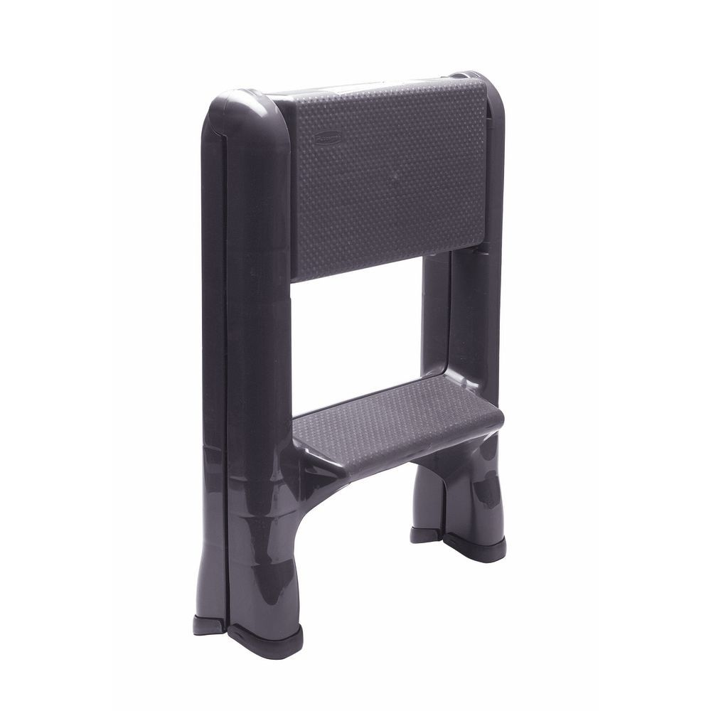Wondrous Rubbermaid Grey Plastic Foldable Step Ladder 22 7 8L X 21W X 18 7 8H Pdpeps Interior Chair Design Pdpepsorg