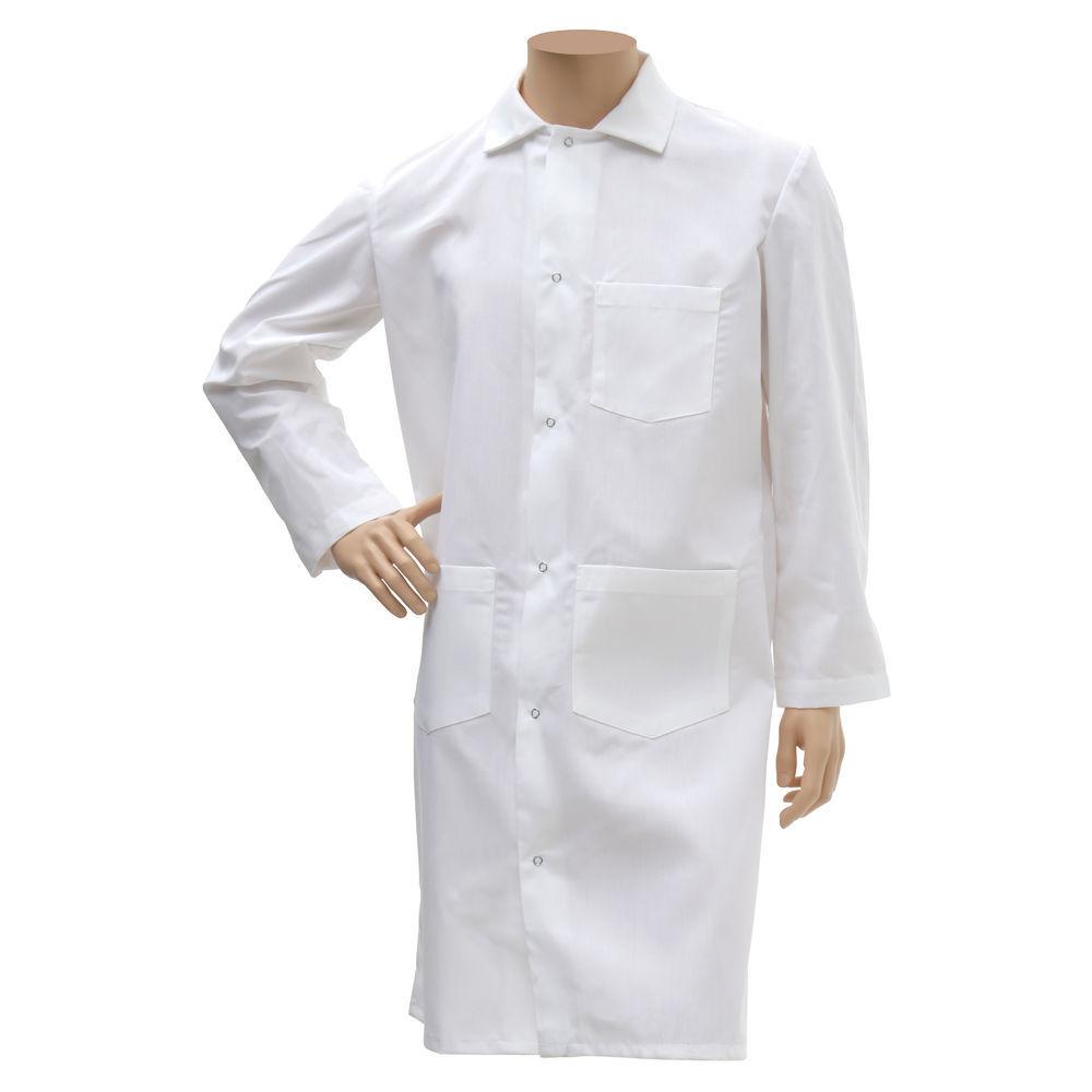 Hubert® White Butchers Coat Long XLarge