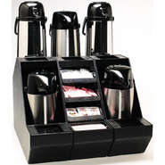 STAND, AIRPOT 2.5+ 3LTR W/CONDIMENT TRAYS