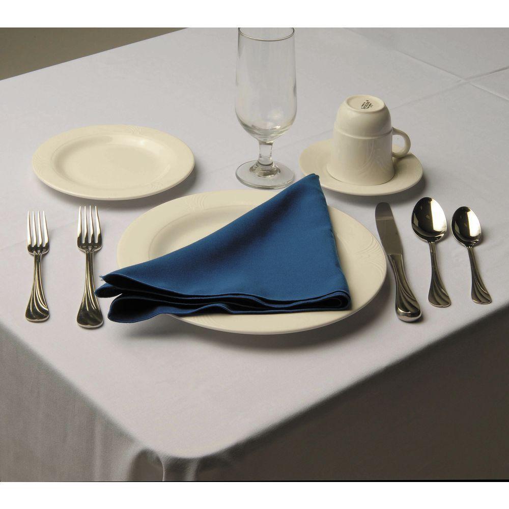Hubert Square Royal Blue Spun Polyester Napkin 20 X 20