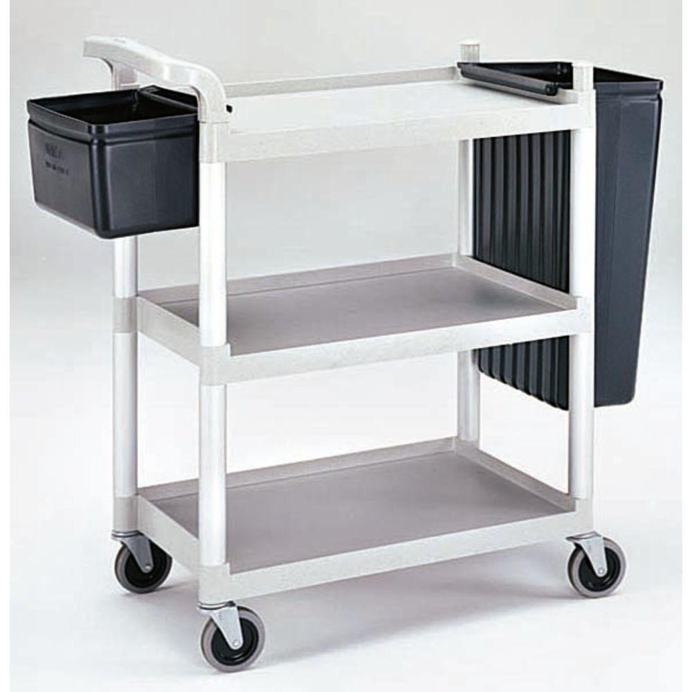Cambro Speckled Grey Plastic 3-Shelf Multi-Purpose Cart