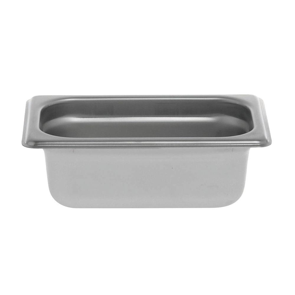 "Hubert Stainless Steel Pans 1/9 Size 2 1/2""D"