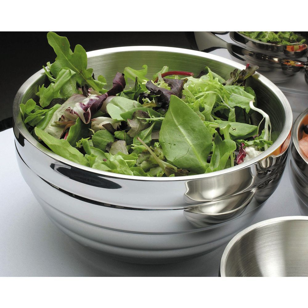 """Vollrath Stainless Steel Serving Bowl 3.4 qt Capacity 9 1/2""""D  x  5""""H"""