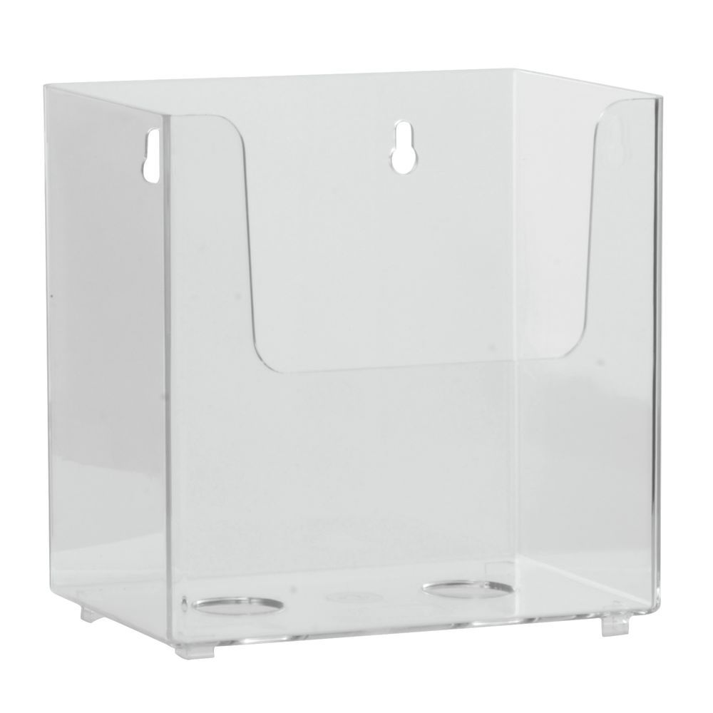 clear acrylic wall mount brochure holder 4 3 8 l x 1 5 8 w x 5 h. Black Bedroom Furniture Sets. Home Design Ideas