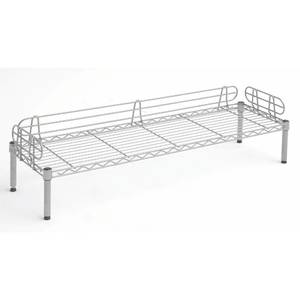 "BUNK, DELI, 1-SHELF, SILVER WIRE, 48X14X7""H"