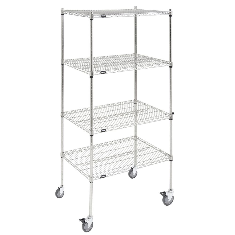 SHELF UNIT, 4-SH.MOBILE, SFT.SILV.24X36X80