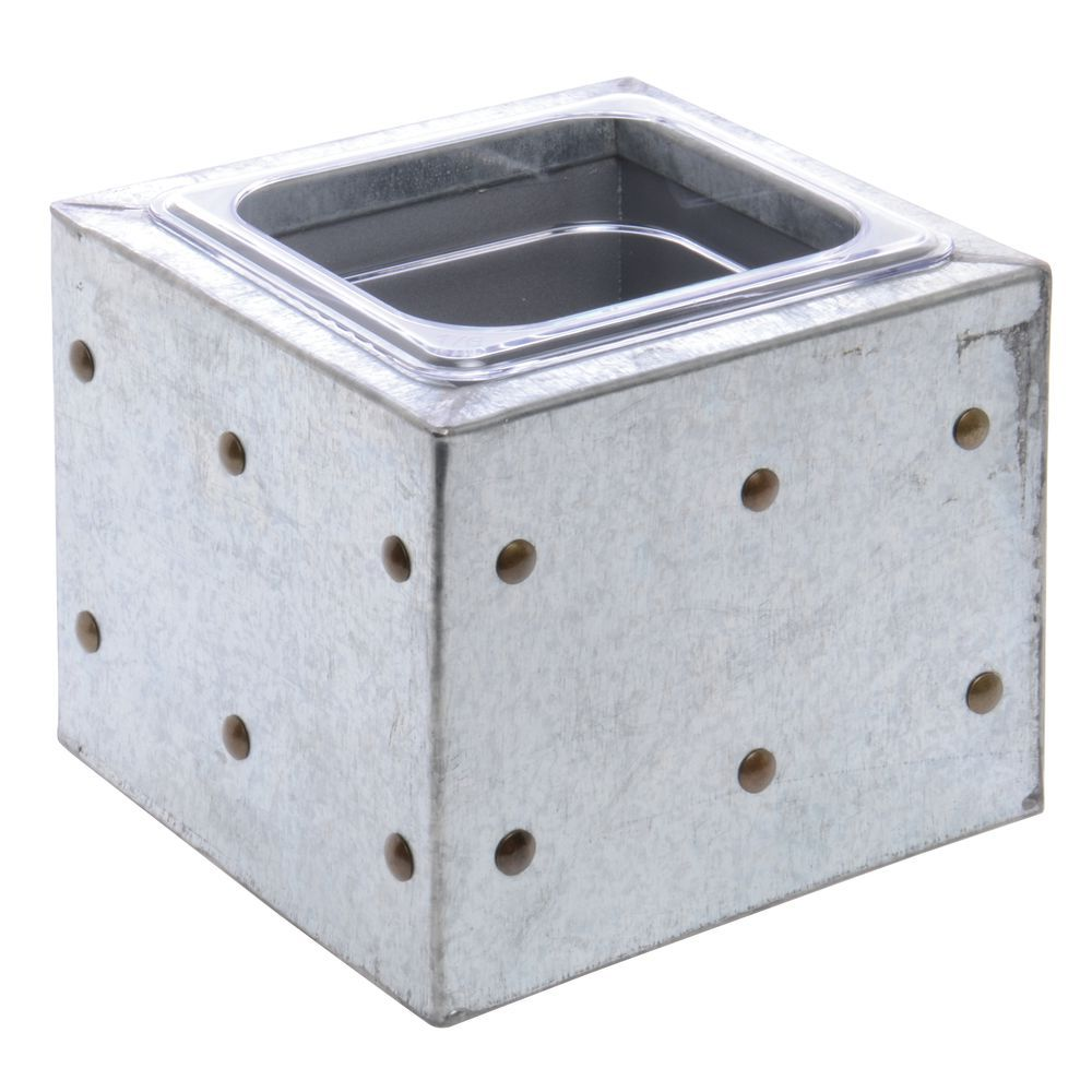 "BOX, 1/6 SIZE, 6-1/2""D, GALVANIZED CHIC"