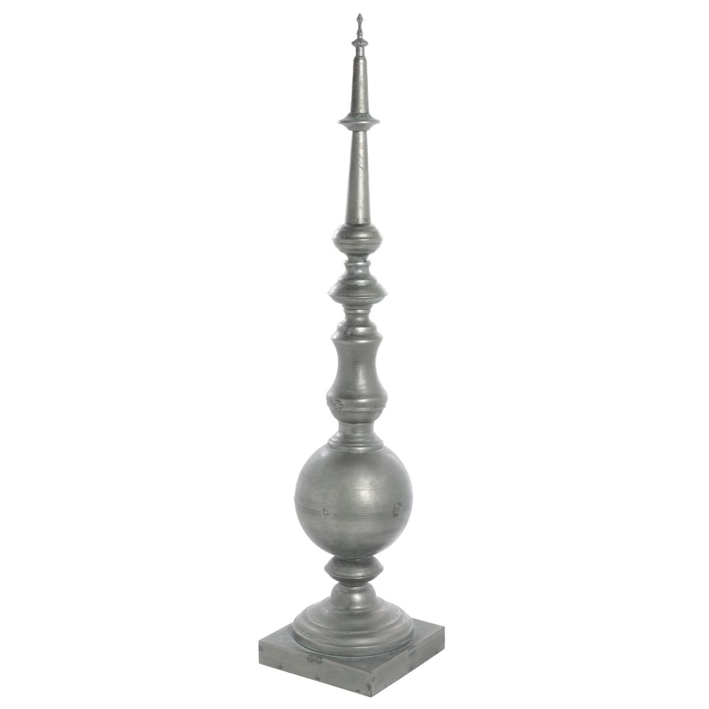 "FINIAL, IRON, ANTIQUE BRASS, 31-3/4""H"