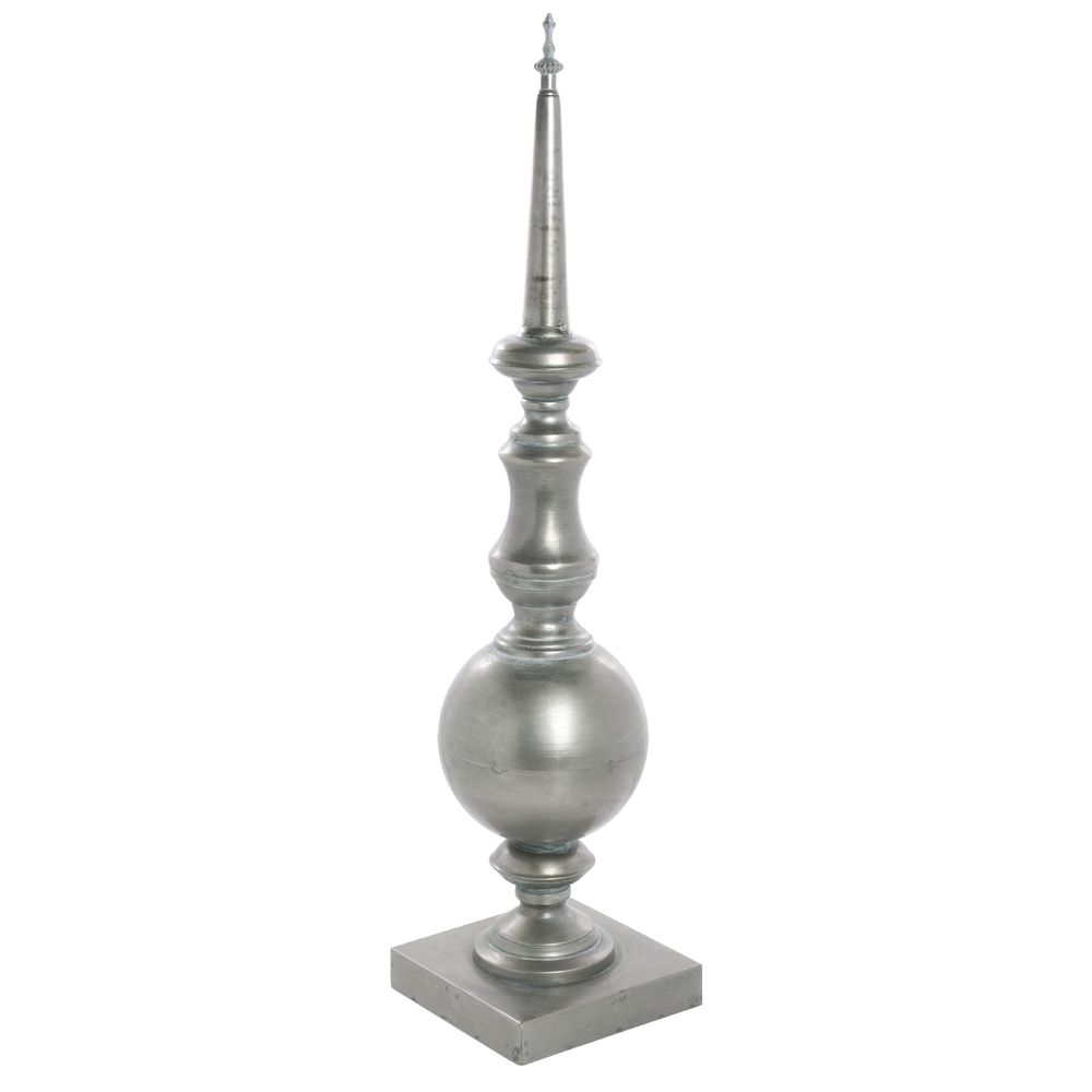"FINIAL, IRON, ANTIQUE BRASS, 27-1/4""H"