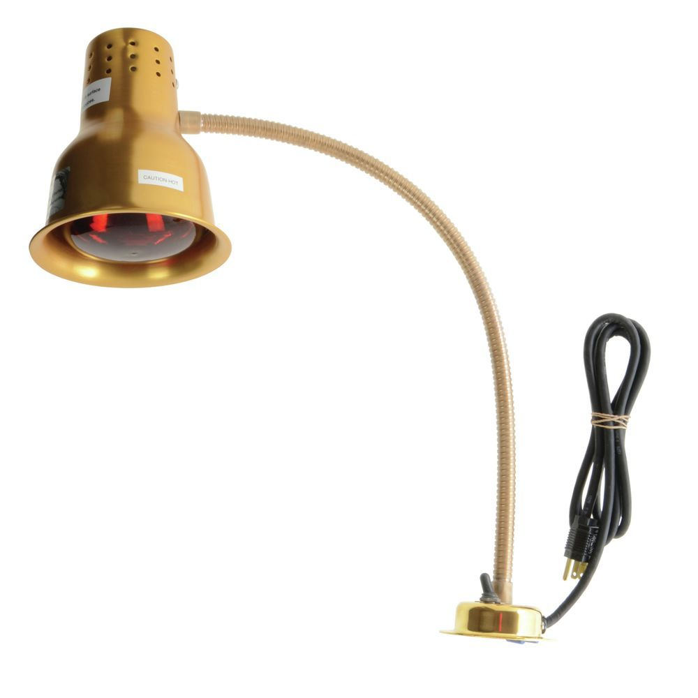HEAT LAMP, FLEXIGLOW, SINGLE ARM, GOLD
