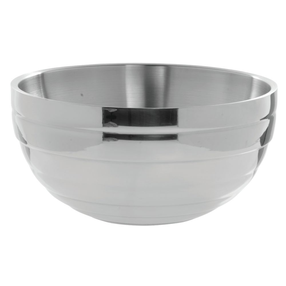 """Vollrath Round Beehive Stainless Steel Serving Bowl 10 qt Capacity 13 3/4""""D  x  6 7/8""""H"""