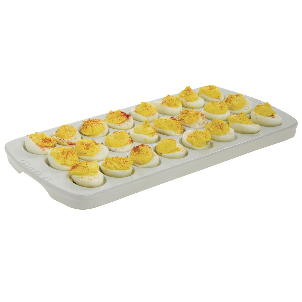 PLATTER, DEVILED EGG, WHITE