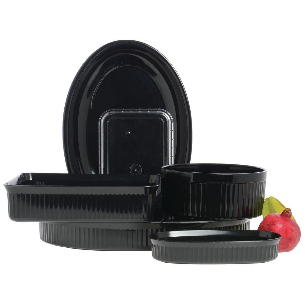 High Densit Plastic Serving Platter in Black