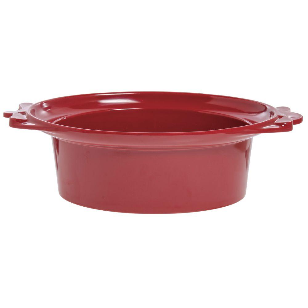 "Expressly Hubert®  Melamine Bowl Red 17 1/2""L x 12 1/2""W x 6""H"