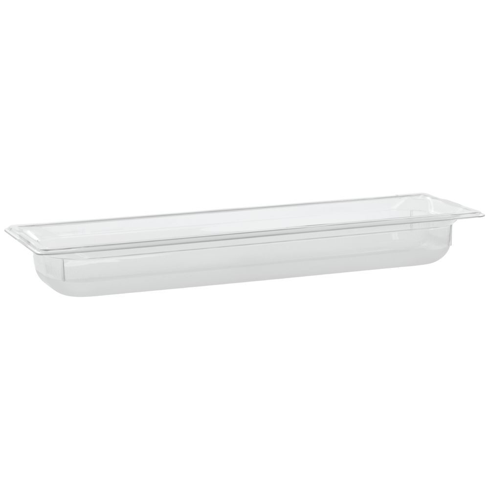 "Vollrath Super Pan Plastic Steam Table Pan Low Temp Clear 1/2 Size Long 2 1/2""D"