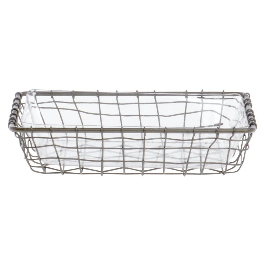 """LINER, CLEAR, FOR 9""""LX6""""WX2""""H BASKET"""