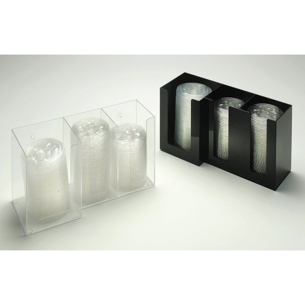 "DISPENSER, LID, 3-SECTION(2-4""+1-5""), BLACK"