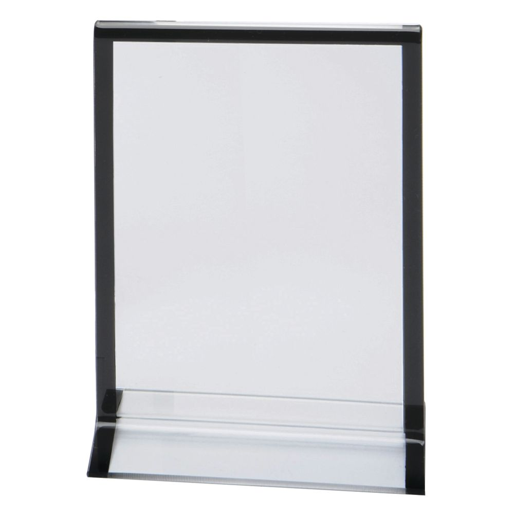 Expressly Hubert Clear Acrylic Sign Holder With Striped Edge Frame 4l X 6h