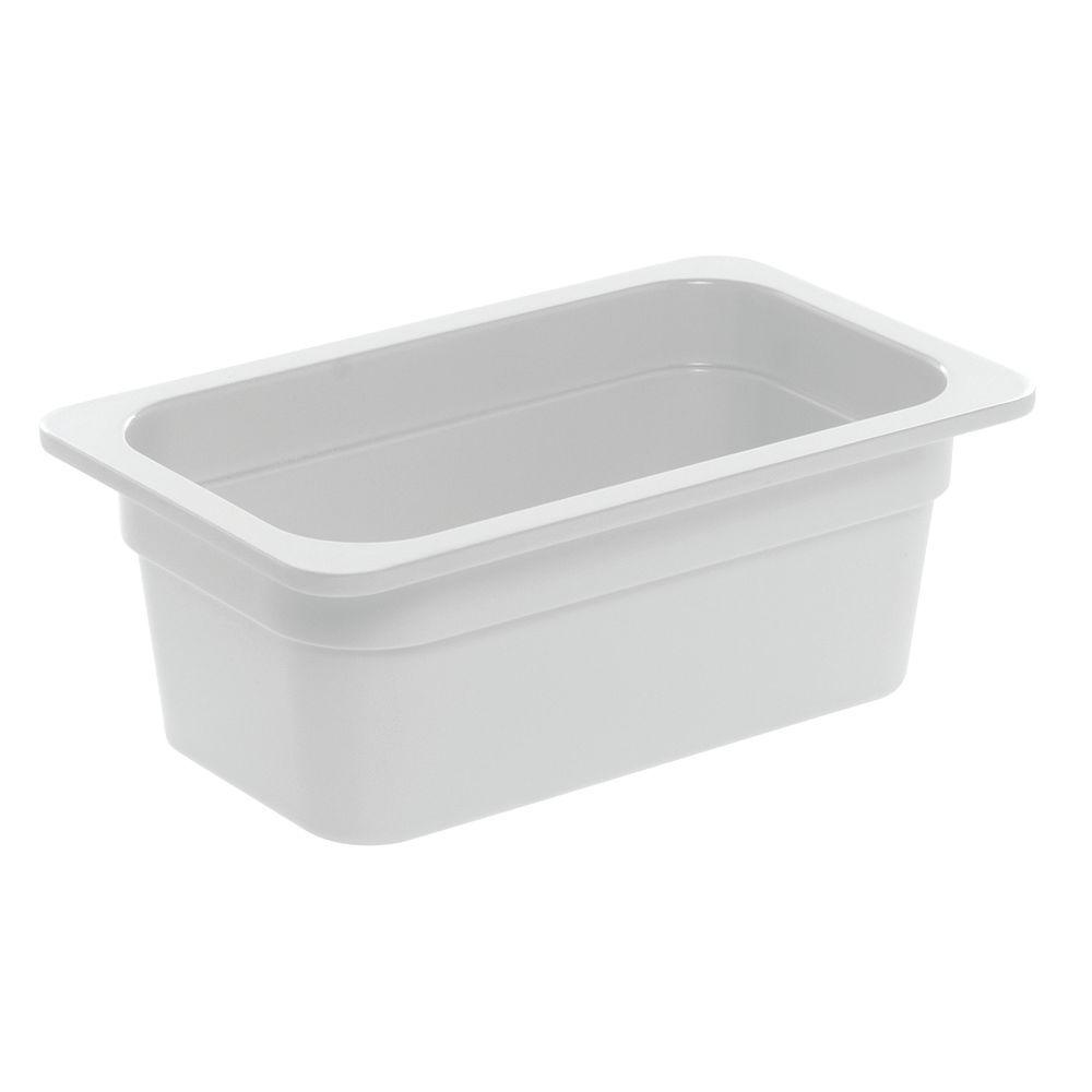 """PAN, 1/4 SZ.4""""D, WHITE, 6-3/8X10-7/8X4"""