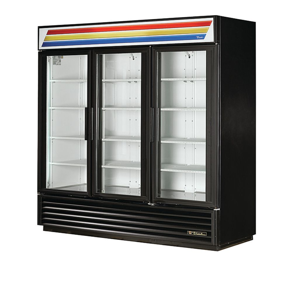 True 72 Cu Ft 3 Glass Door Freezer Merchandiser 78 18l X 29 7
