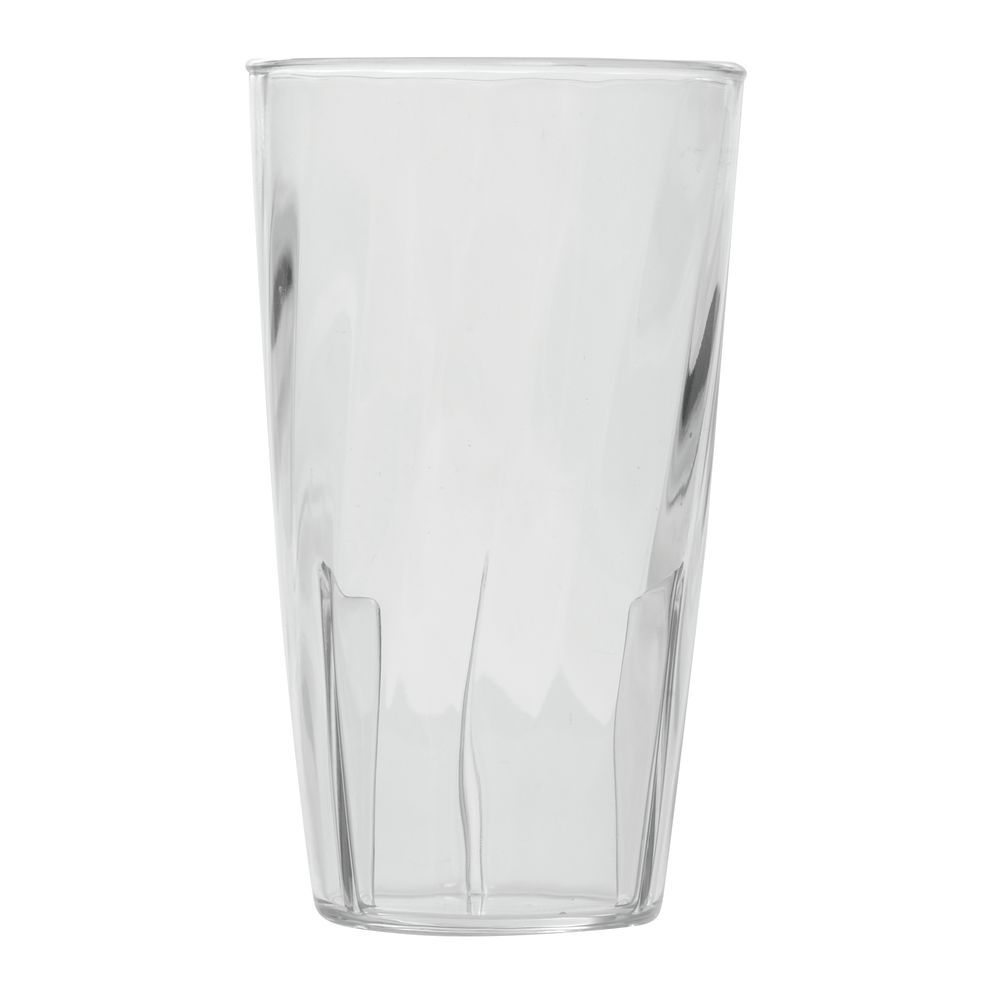 TUMBLER, SWIRL, 10OZ.CLEAR POLYCARBONATE
