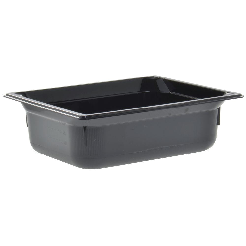 """Vollrath Super Pan Black Steam Table Pan High Temp 1/2 Size 4""""D"""