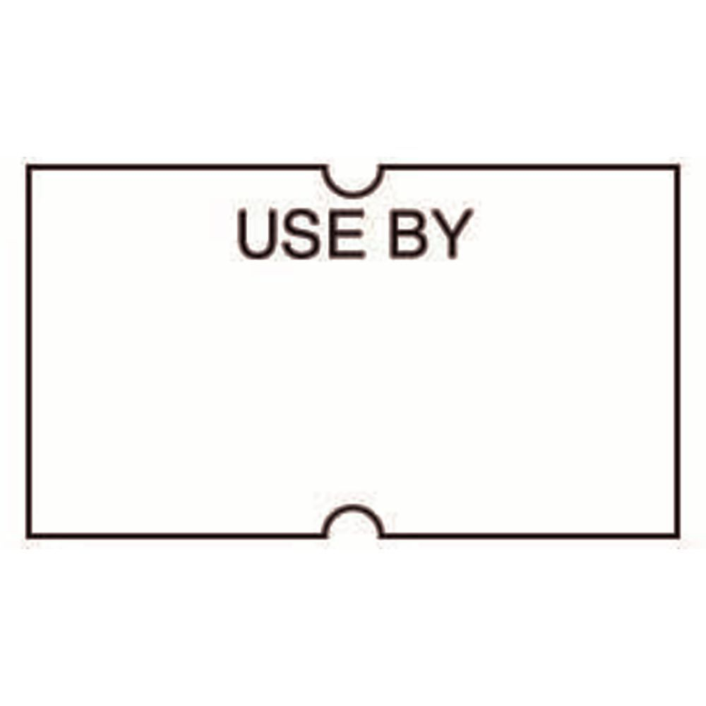 LABEL, 1 LINE, WHT, W/USEBY, IN BLK, FR 71590