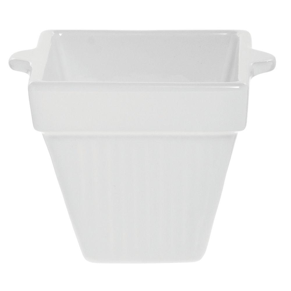Tablecraft® Square Coated Aluminum Bowl 18 Oz White