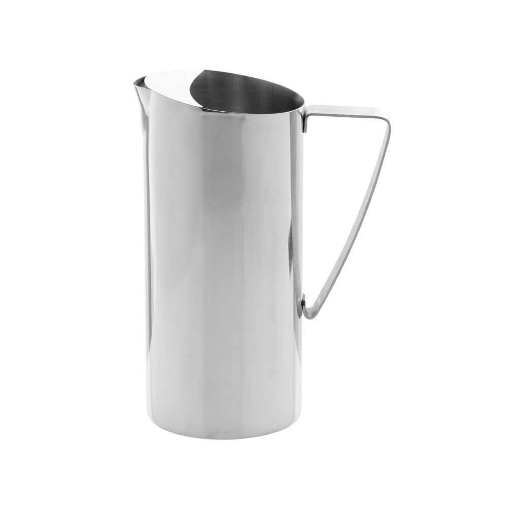 PITCHER, WATER, POLISHED S/S, W/ICE GUARD